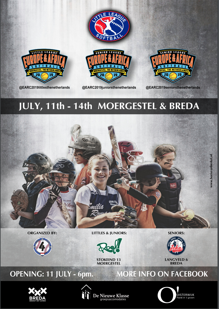 , Europe & Africa Regionals Seniors Softball – Breda – Juli, 11-14